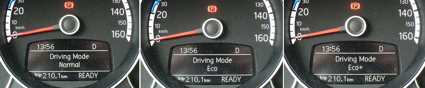 driving Mode volkswagen e-up-1