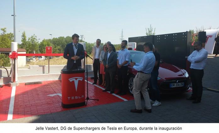 Inauguración del primer supercargador de Tesla en España (Girona)