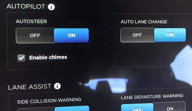 autosteer autolane change actualizacion firmware tesla 7.0
