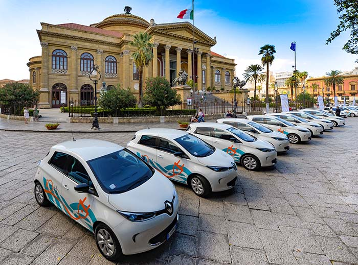renault zoe car sharing palermo