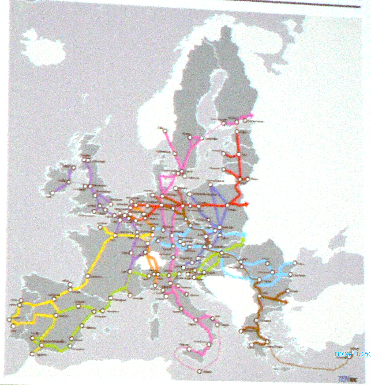 mapa de corredores ibericos y sus conexiones con europa