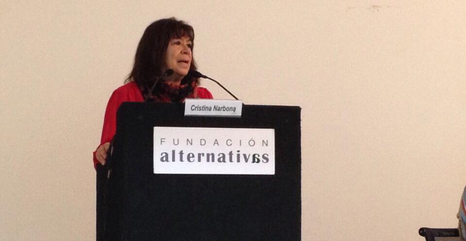 cristina narbona III Debate Cambio Climático y ciudades fundacion alternativas