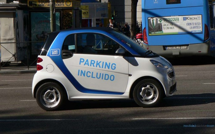 smart fortwo ed car2go madrid