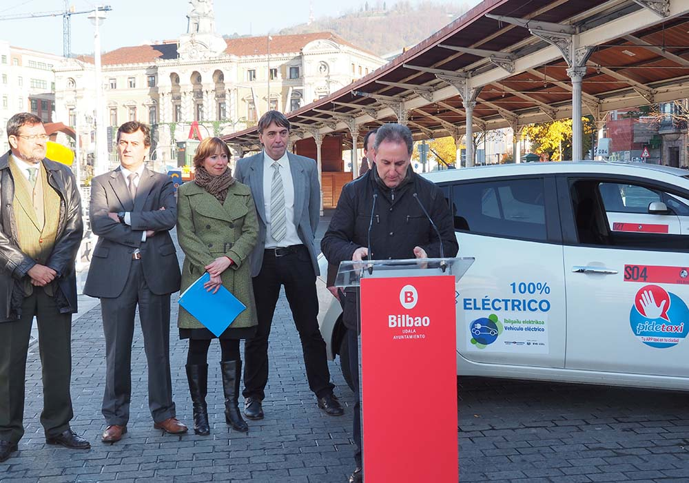 taxi electrico de cortesia Bilbao