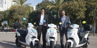 Presentacion del motosharing de Cooltra en Barcelona