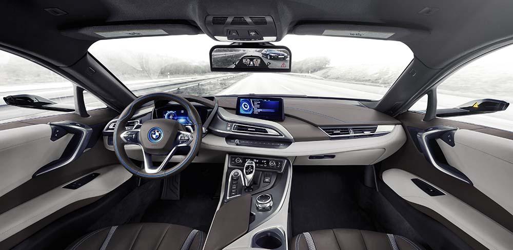 bmw i8 mirrorless interior