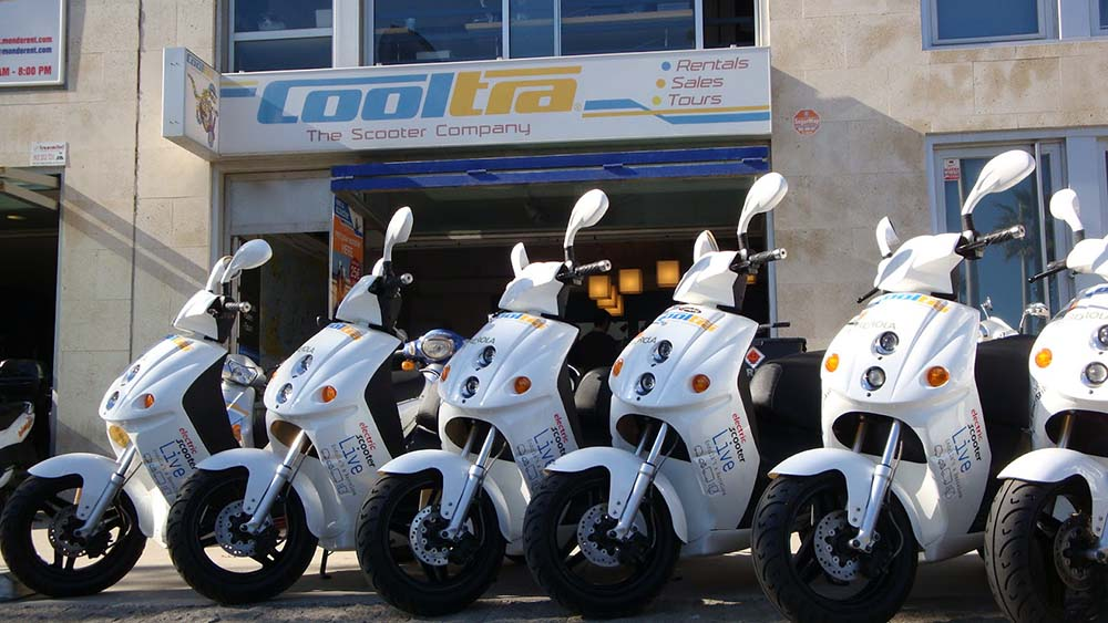 Flota de scooters eléctricos de Cooltra