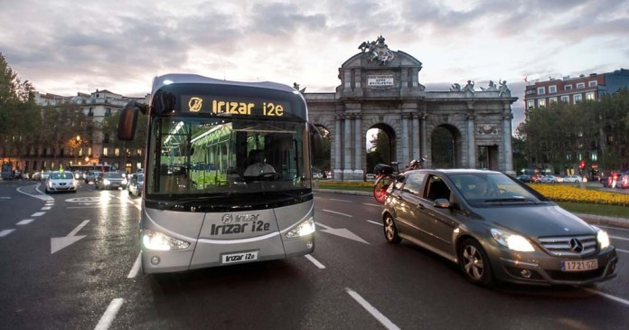El autobús eléctrico Irizar i2e en Madrid
