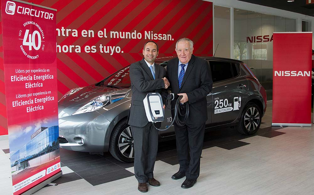 Marco Toro, Consejero Director General de Nissan Iberia Ramón Comellas,  presidente de Circutor