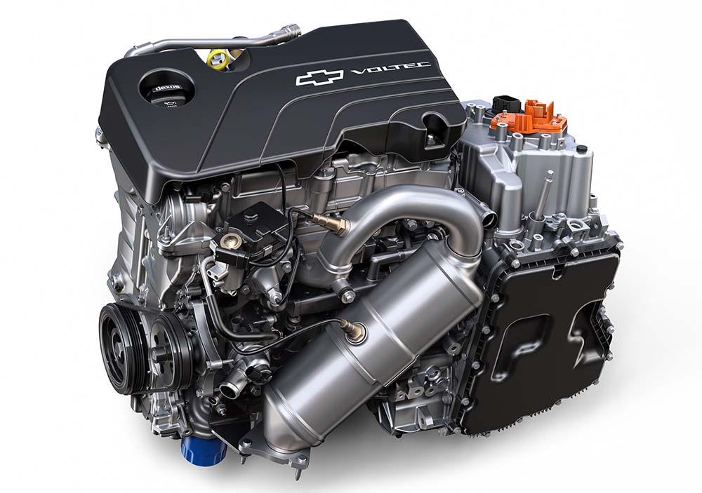 Motor 1.5 de gasolina y eléctrico del sistema Voltec