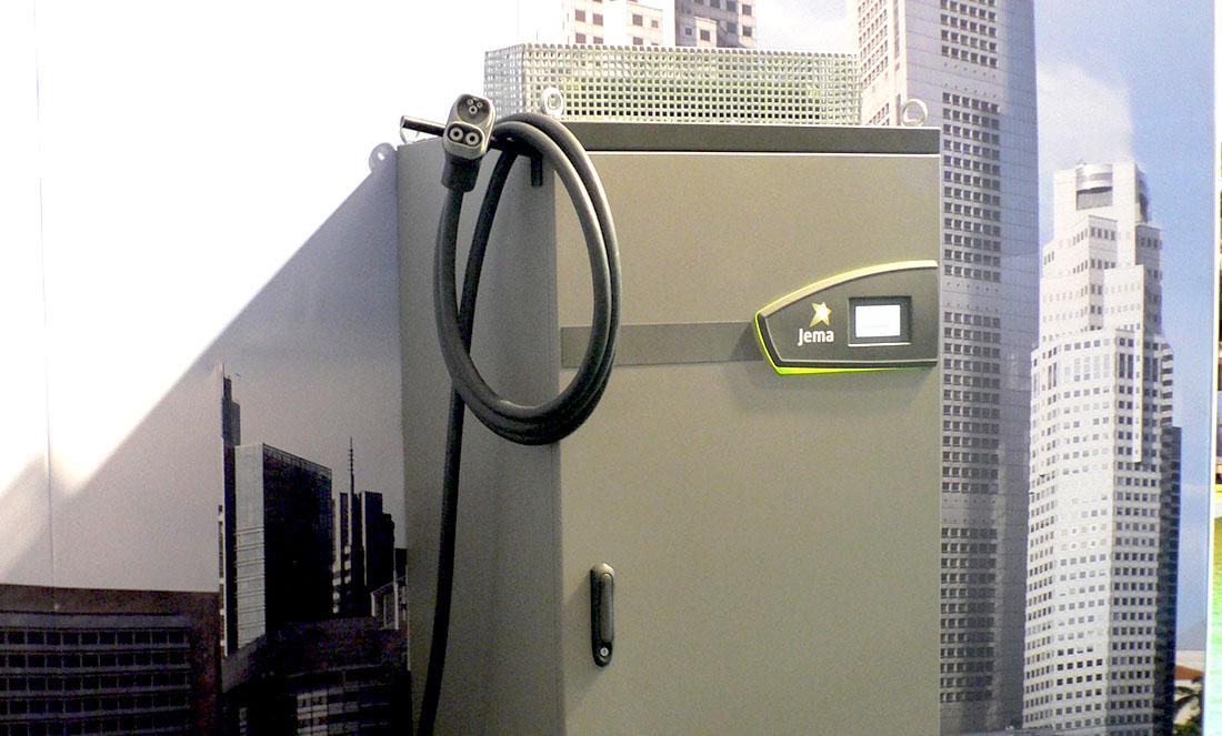 Sistema de carga para autobuses eléctricos