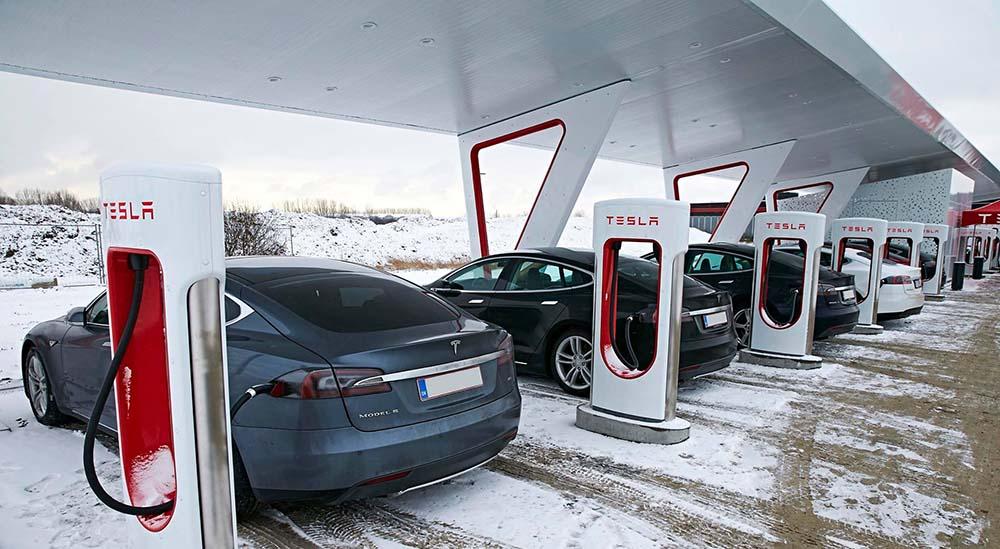 Estación de supercargadores de Tesla Motors