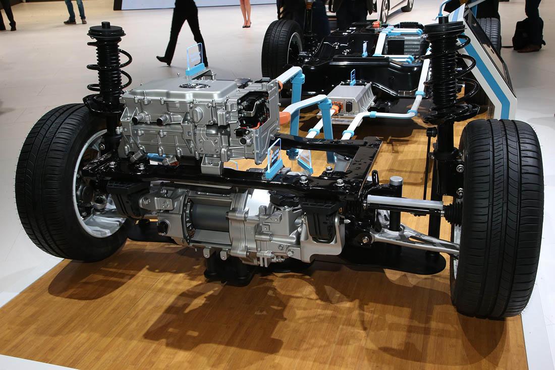 Motor e inversor del Hyundai Ioniq eléctrico