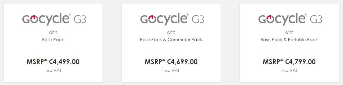 Precios Gocycle G3