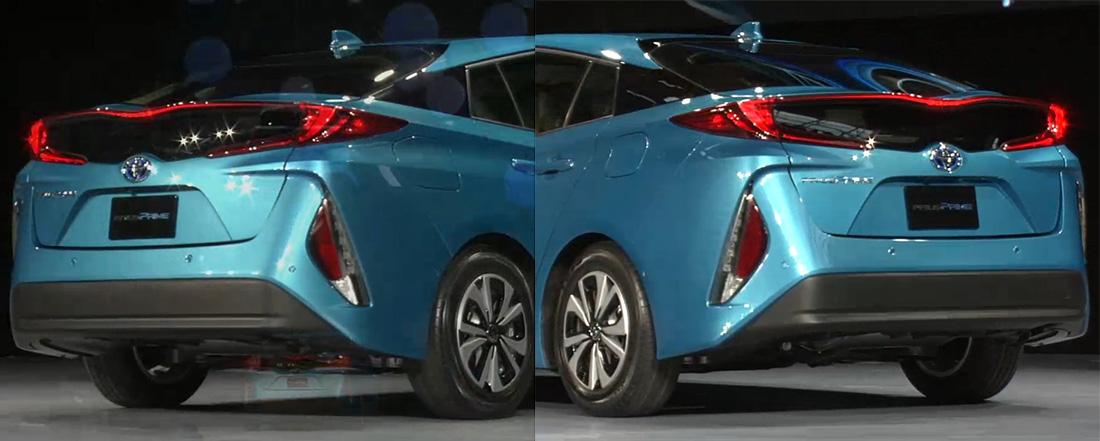 Toyota Prius Prime - Tapa de combustible y para la recarga eléctrica