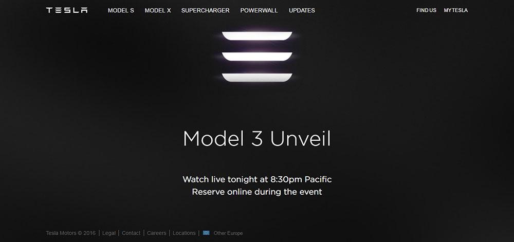 web de Tesla Motors