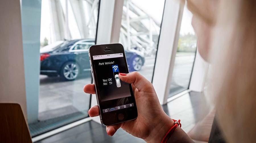 Aplicación móvil para el aparcamiento automático