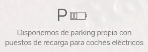 Parking con punto de recarga para coches eléctricos en el Hotel Claridge