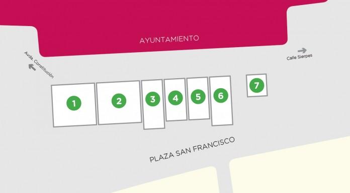 Plano de expositores del II Roadshow Eléctricos de Sevilla