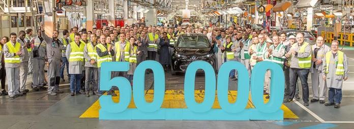 Renault Zoe 50.000 en la fábrica de Flins