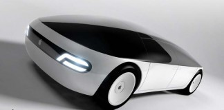 Render del Apple Car-lateral delantera