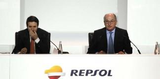 Antonio Brufau, Presidente de Repsol durante la última Junta de Accionistas de la empresa