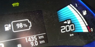 Marcador de autonomía del Nissan Leaf 30 kWh