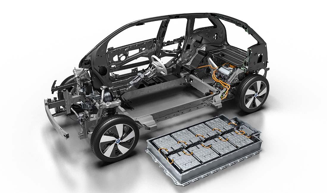 Posición de la nueva batería del BMW i3 2017