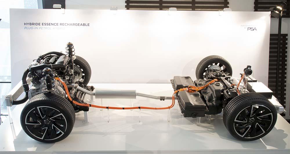 Sistema híbrido recargable de gasolina del Grupo PSA
