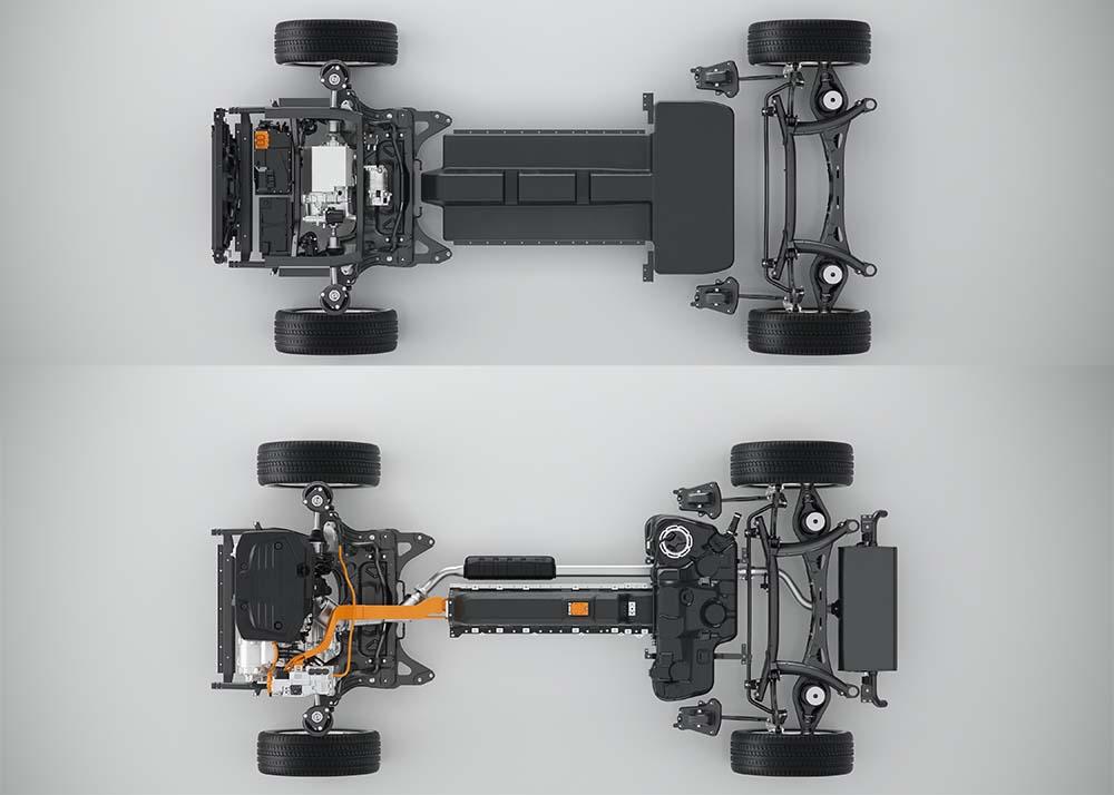Situación de la batería y el motor en la Serie 40 de Volvo