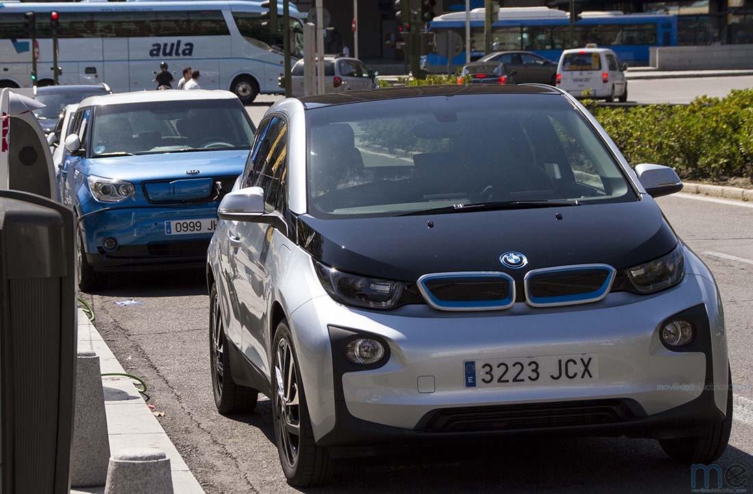 BMW i3 en la zona de pruebas de VEM2016