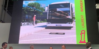 Entrega a ALMSTOM del premio a la innovación del transporte público en la categoría de Energía y Medioambiente