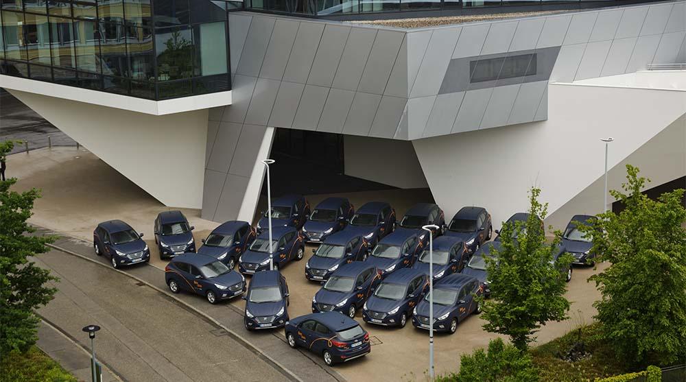 La flota de 50 Hyundai ix35 Fuel Cell
