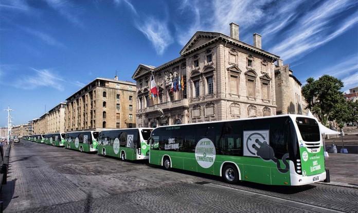 Los 6 autobuses Irizar i2e en Marsella