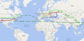Mapa de la ruta 80edayselectric