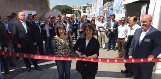 Mercè Vidal e Inés Sabanes en la inauguración de VEM 2016