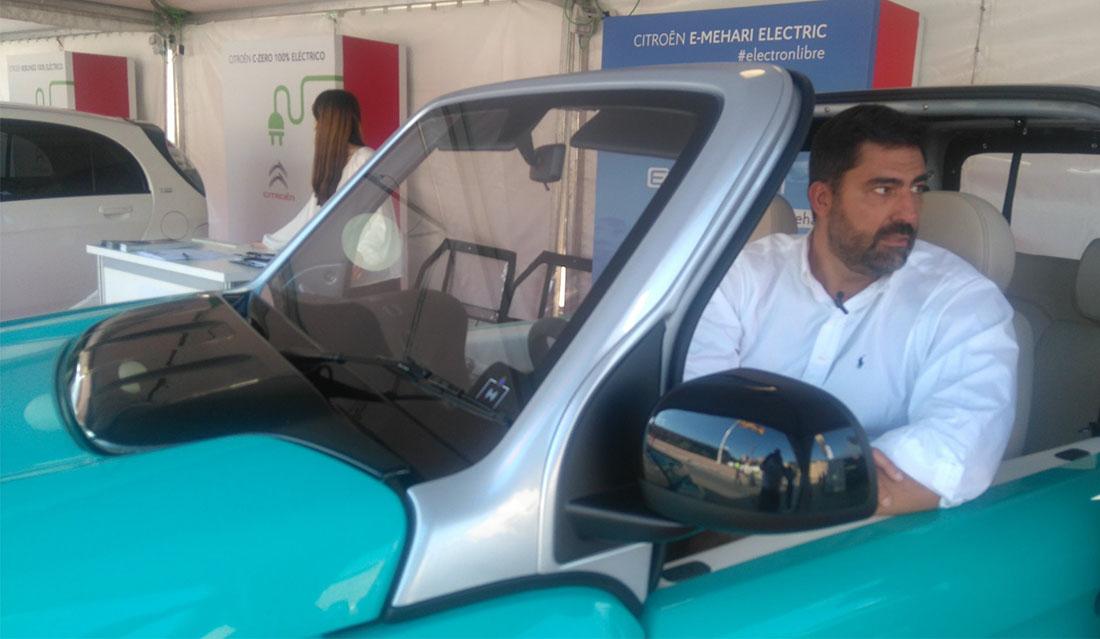 Ricardo de Lombras Director de Vehículo Eléctrico del Grupo PSA en el nuevo Citroën e-Mehari