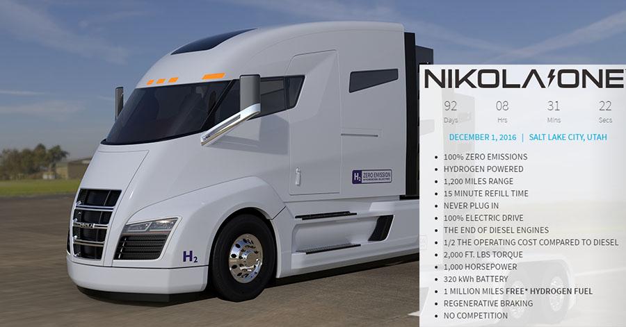 Características del Nikola One de hidrógeno