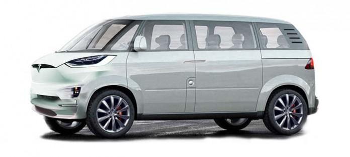 El minibús eléctrico de Tesla según Jalopnik
