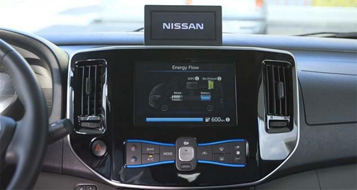 La pila de combustible SOFC en la Nissan e-NV200