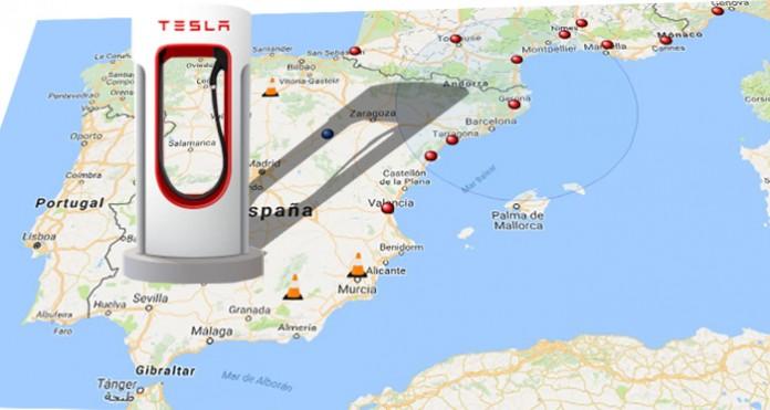 Supercargador Tesla en España