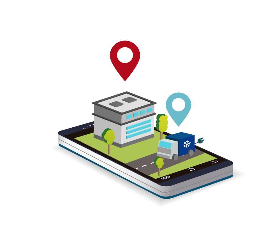 Ilustración sobre el reparto con vehículo eléctrico de Consum