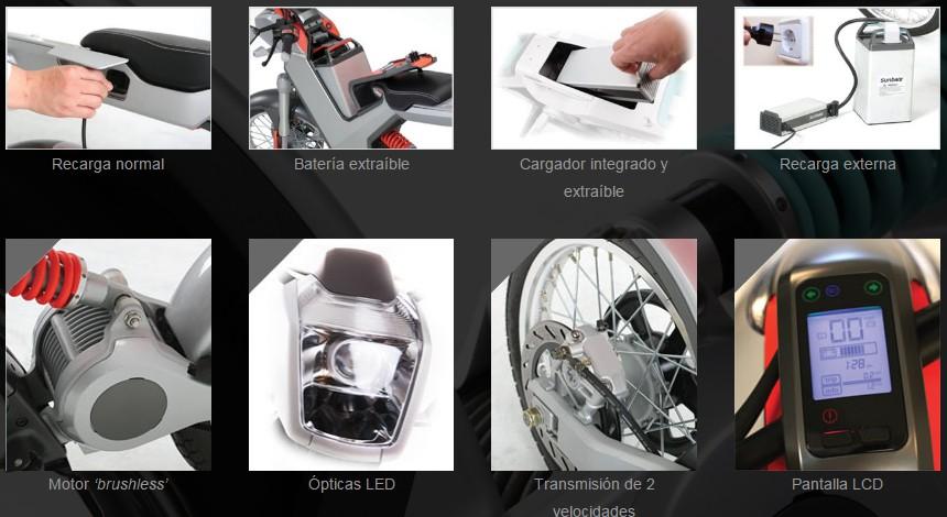 Características principales de Sunbike