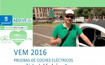 Prueba de vehículos eléctricos en VEM2016