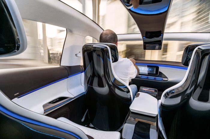 Interior del Generation EQ, el primer modelo de Mercedes EQ