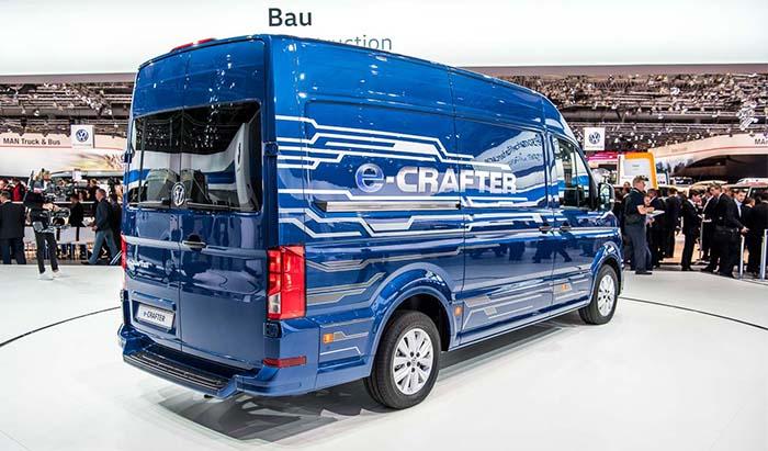 Presentación de la Volkswagen e-Crafter en la IAA de Hannover