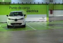 Puntos de recarga en el centro comercial Parquesur de Madrid