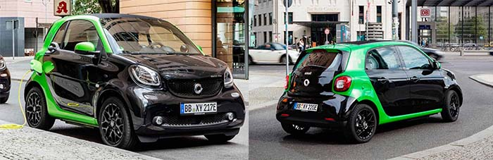 Smart eléctricos - Smart ForTwo y Smart For Four