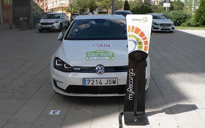 Volkswagen e-Golf participante en el 3er EcoRallye de la Comunidad Valenciana