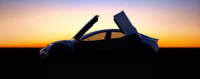 Perfil lateral del nuevo coche eléctrico de Fisker